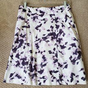 H&M purple & white pique skirt